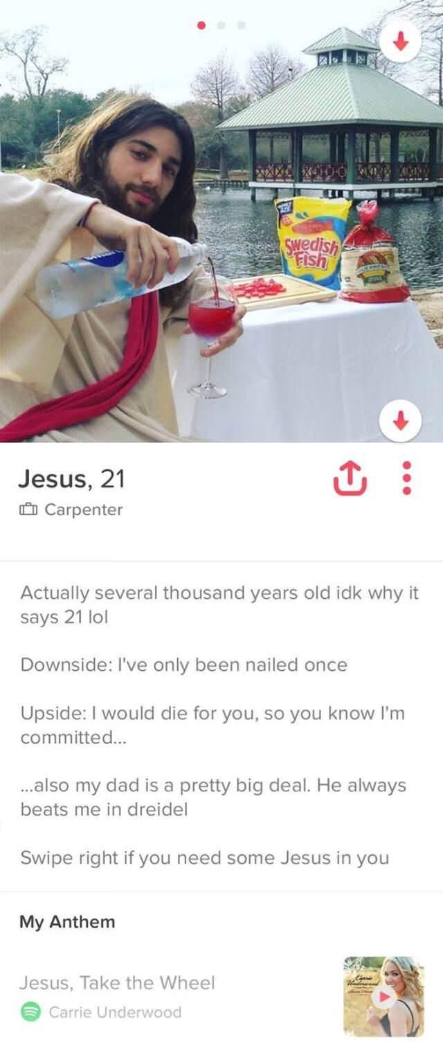 Jesus Tinder bios