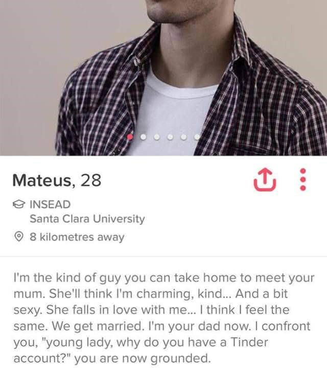 tinder bios   like dating your dad