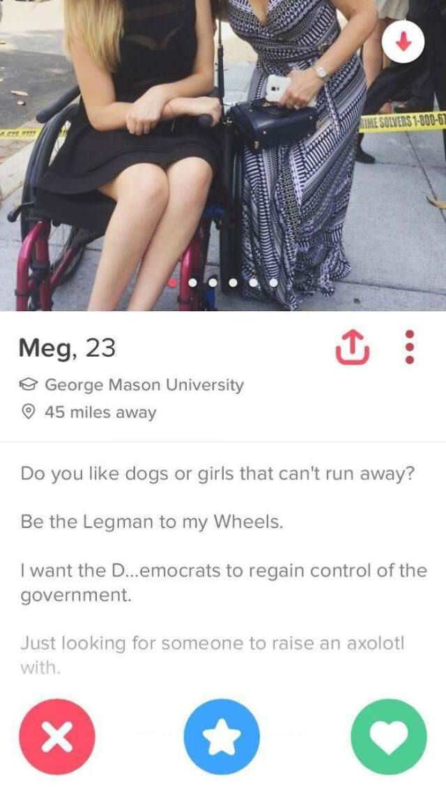 tinder bios wheelchair