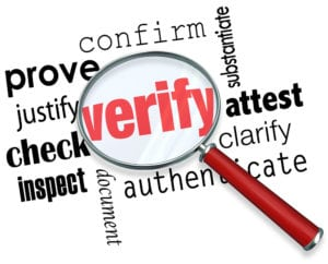 What does a background check show verify
