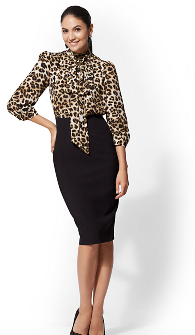 7th avenue leopard print dress