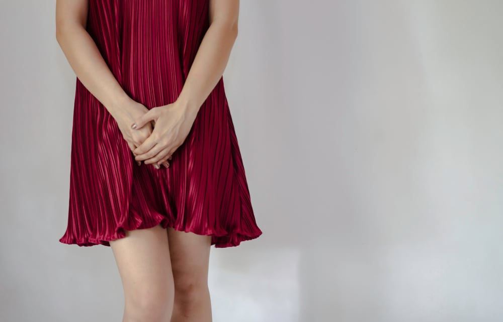 at home yeast infection test red dress