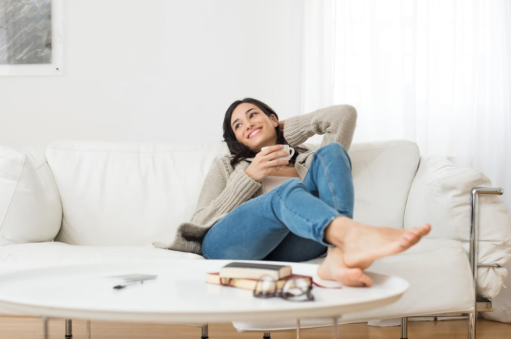 at home yeast infection test woman relaxing