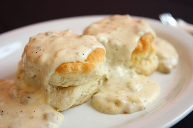 biscuits gravy most unhealthy fast food