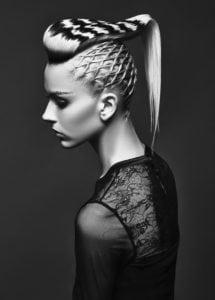 braided hair art