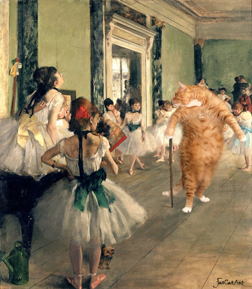 susan herbert cat art painting degas the ballerinas