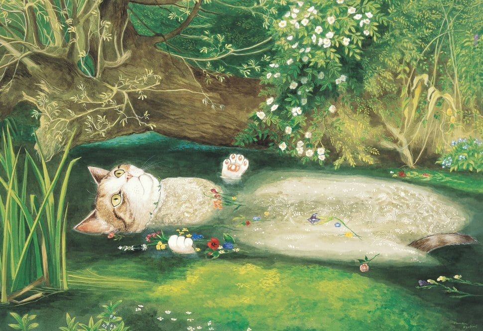 funny cat art ophelia susan herbert cats galore