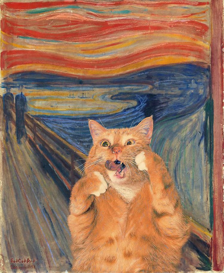 the scream cat art edvard
