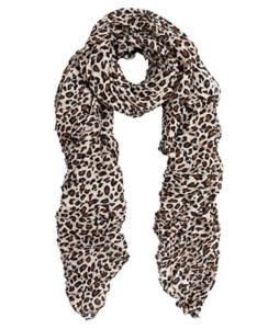 classic leopard print fashion scarf