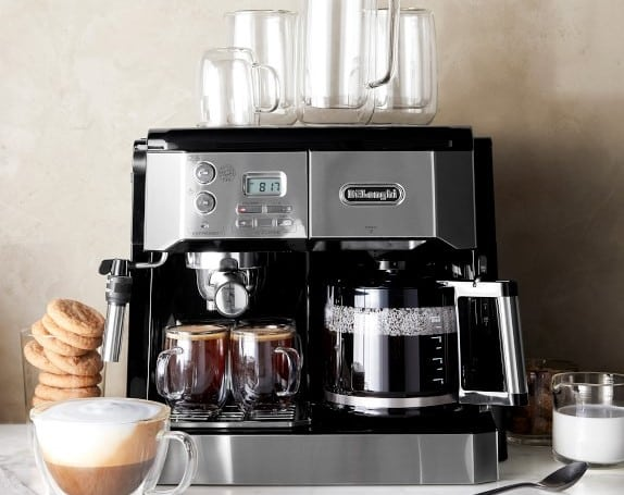 dual coffee and espresso machines