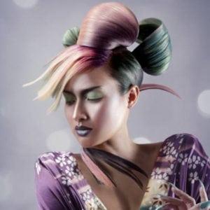 colorful hair art