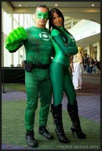couple halloween costume green latern