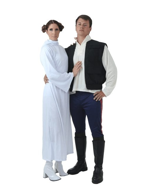 couple halloween costume princess leia and luke
