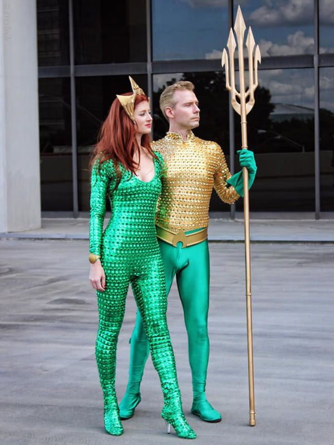 couple halloween costumes - aquaman and mera