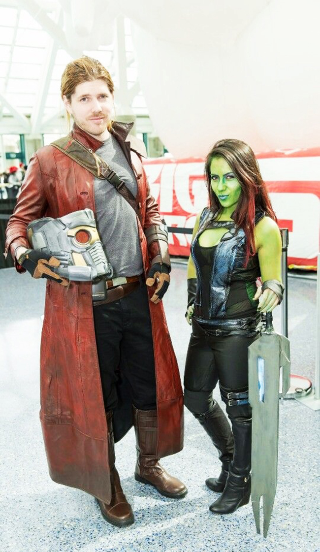 couple halloween costumes - star-lord and gamora
