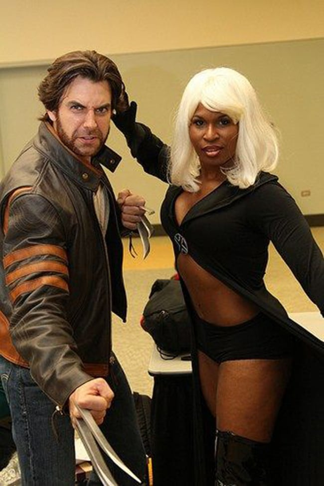 couple halloween costumes - storm and wolverine costume