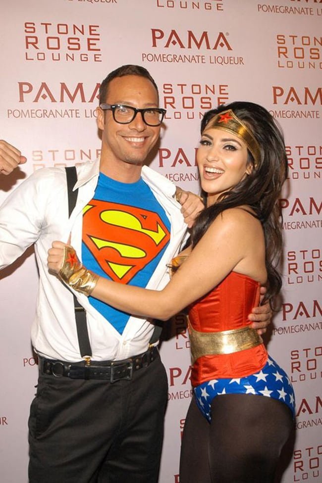 couple halloween costumes -superman and wonder woman