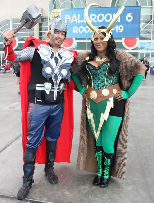 couple halloween costumes - thor and loki