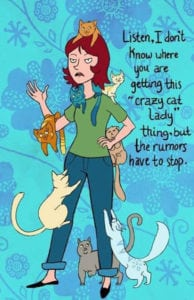 crazy cat ladies cartoon