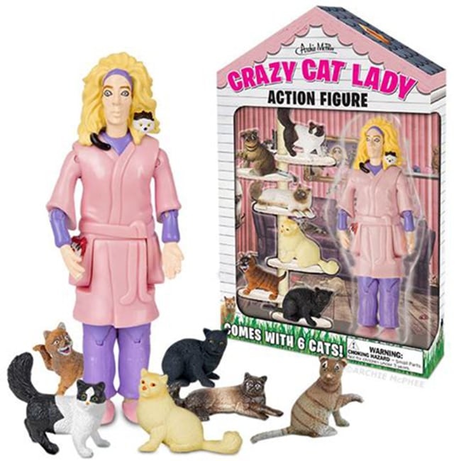crazy cat lady action figure - crazy cat ladies