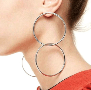 double round circle earrings- structured statement earrings