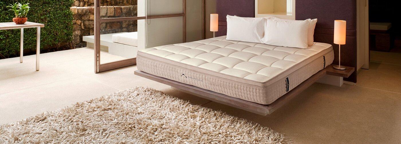 DreamCloud mattress in beautiful bedroom