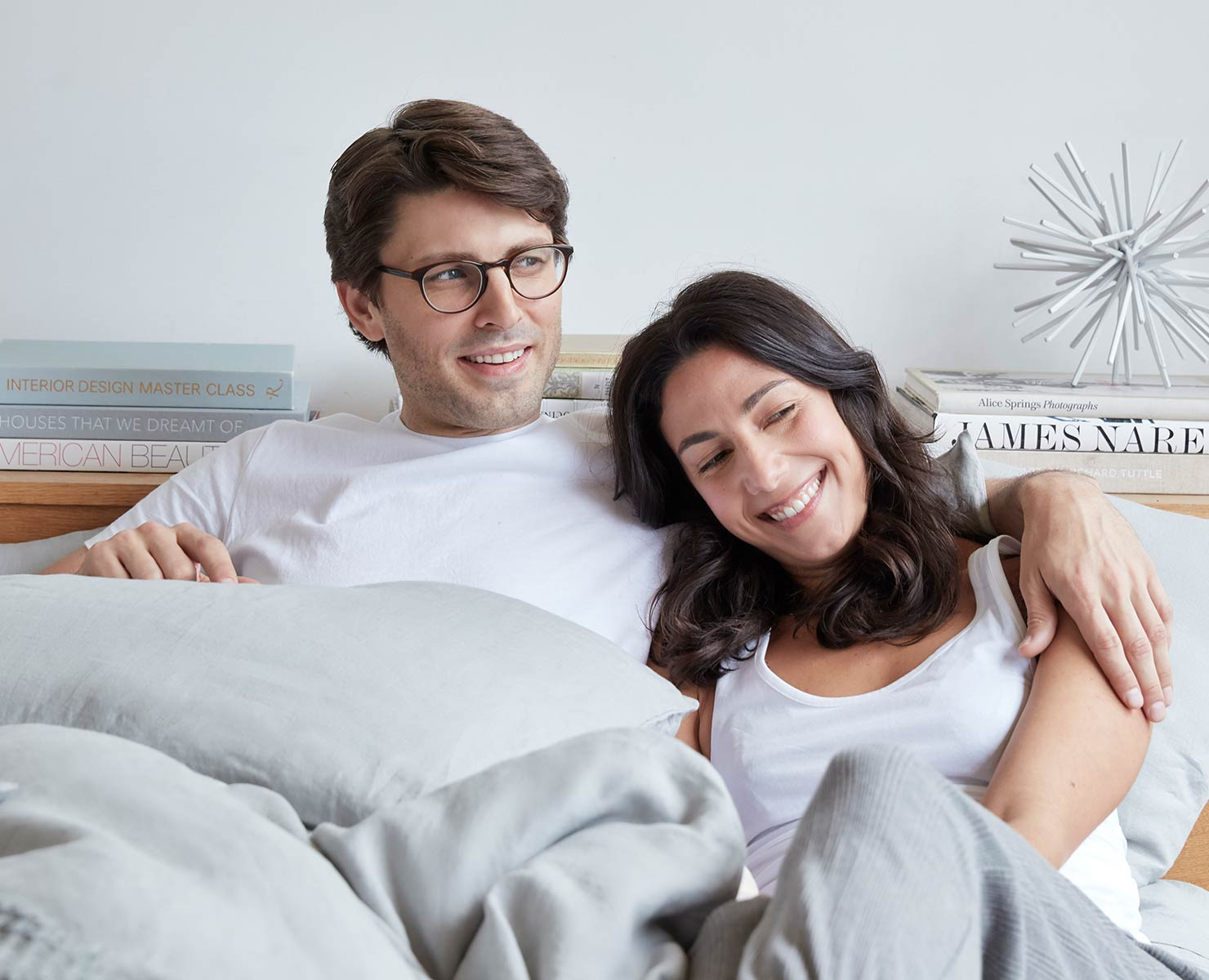 Couple on DreamCloud bed