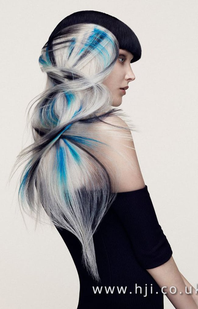 dyed hair art
