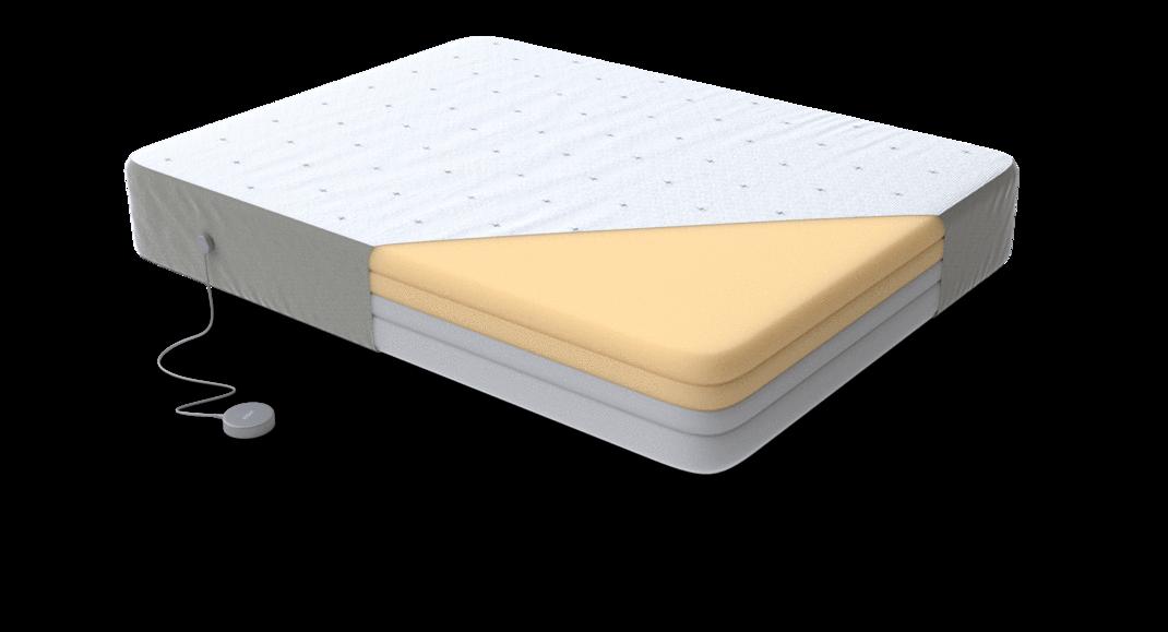 Eight mattress layers of foam