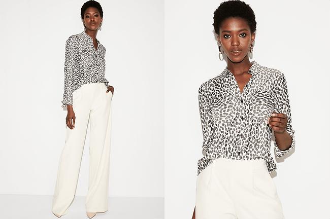 express leopard print city shirt