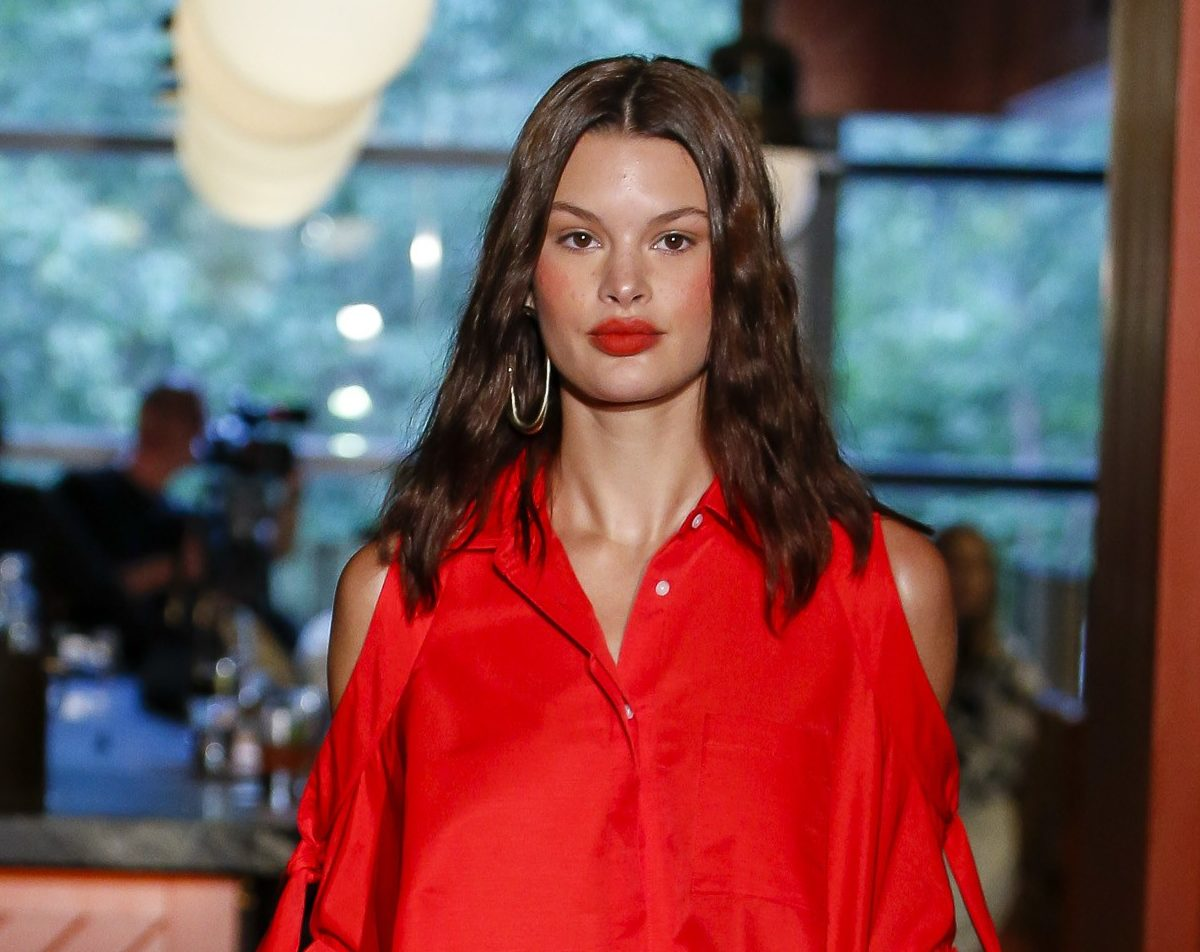 vibrant red is among trending fall lipstick colors