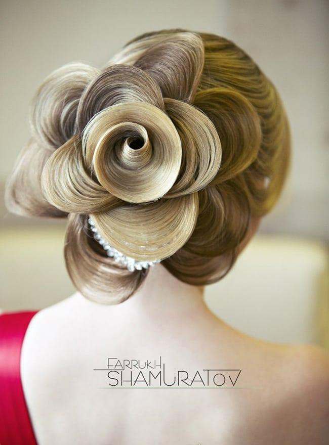 floral hair art