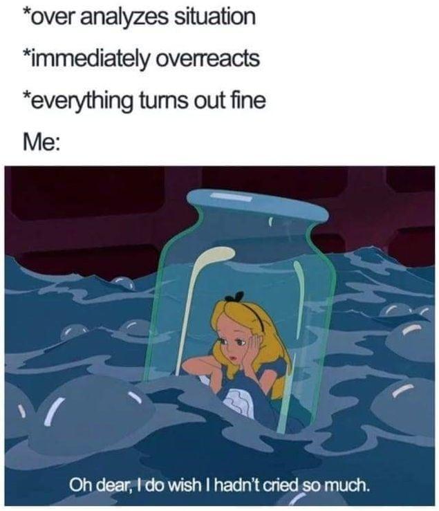 funny disney memes alice tears