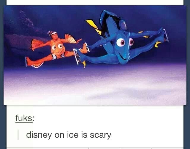 funny Disney memes | Disney on ice