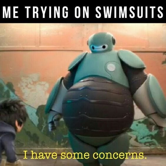 funny Disney memes trying on swimsuits