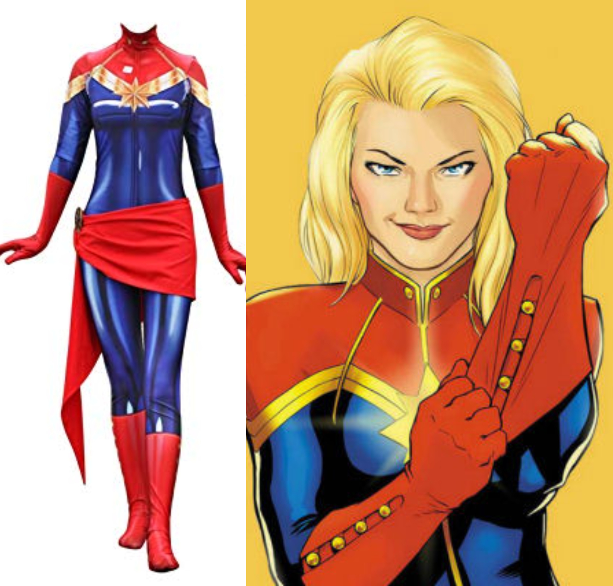 Halloween geek costume ideas Captain Marvel for women