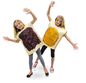 kids costumes peanut butter and jelly