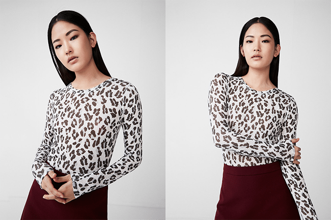leopard print crew neck shirt
