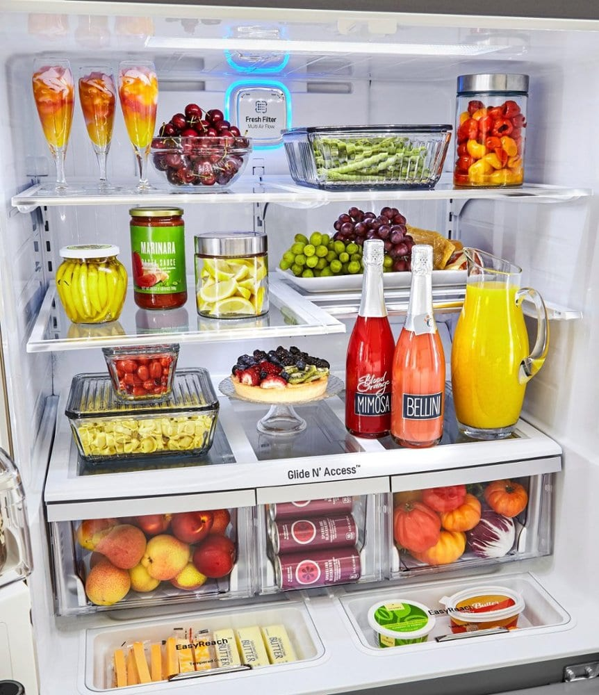 lg inside of fridge