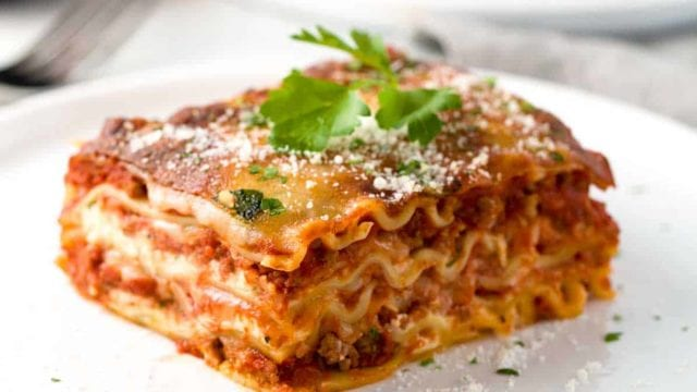 meat lasagna most unhealthy fast food