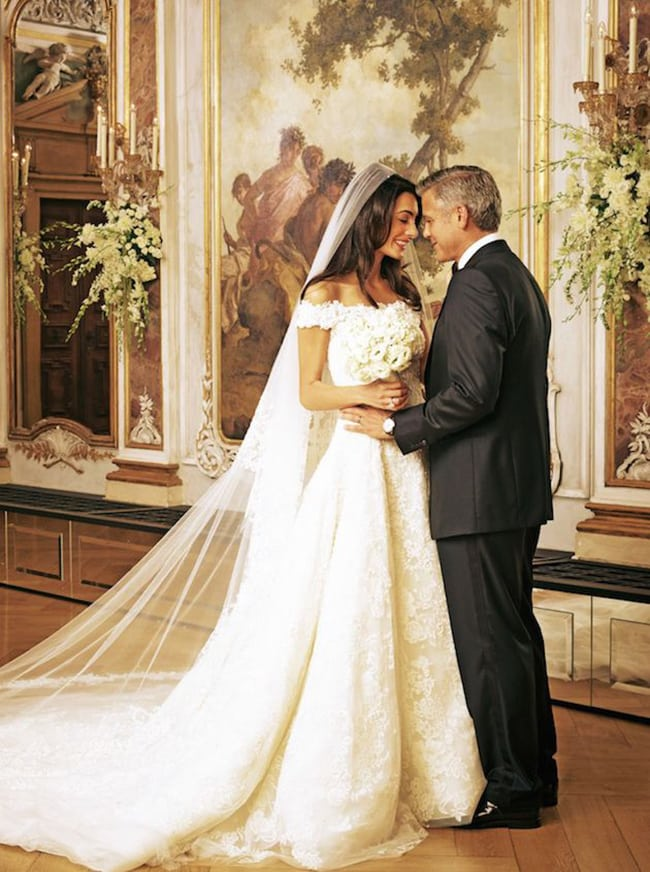 most expensive wedding dresses amal clooney