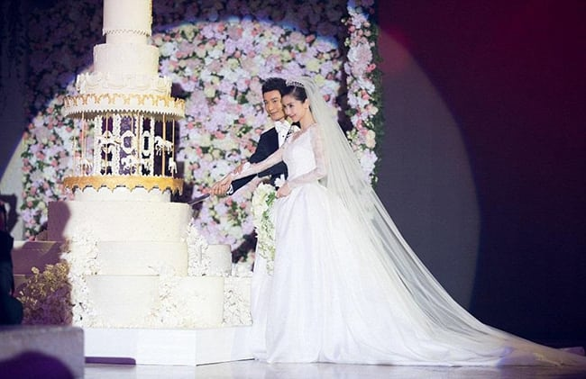 most expensive wedding dresses angelababy
