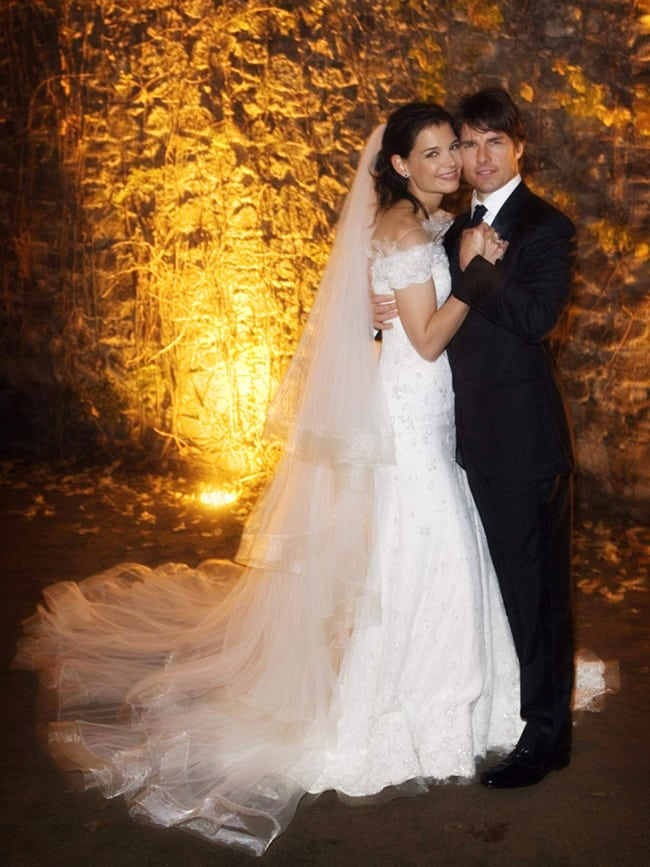 most expensive wedding dresses katie holmes