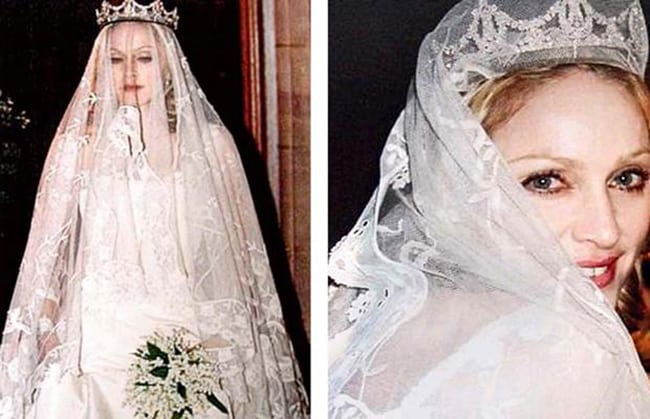 most expensive wedding dresses madonna