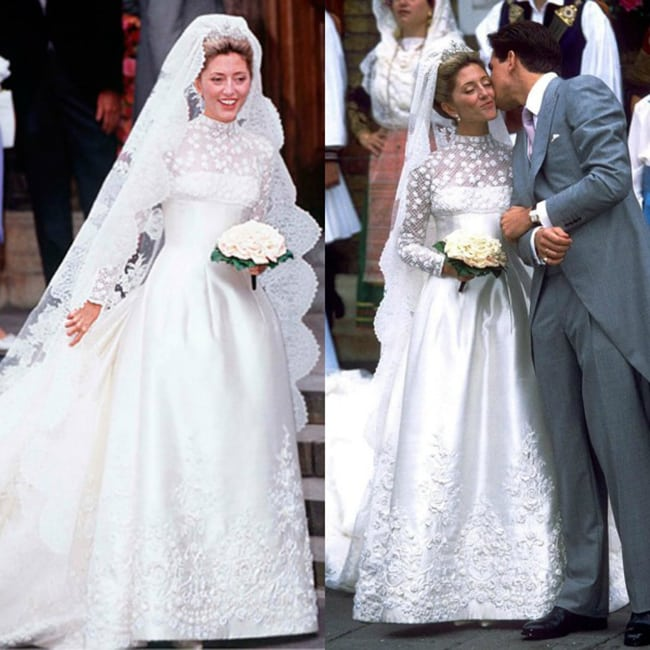 most expensive wedding dresses marie-chantal miller