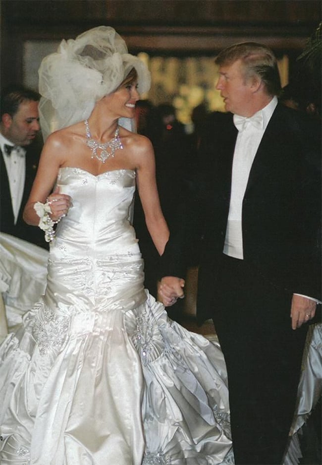 most expensive wedding dresses melania trump