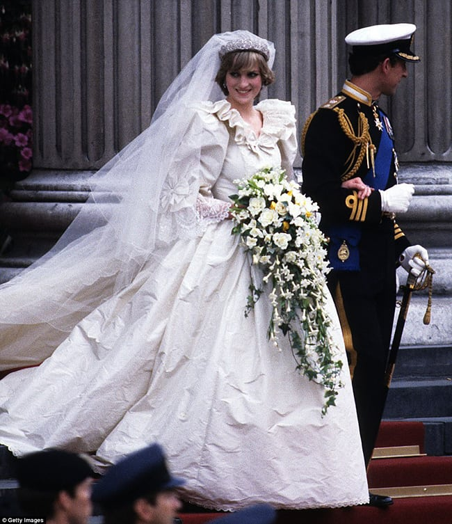 most expensive wedding dresses princess diana
