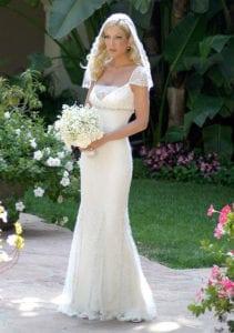 Most expensive wedding dresses Tori Spelling