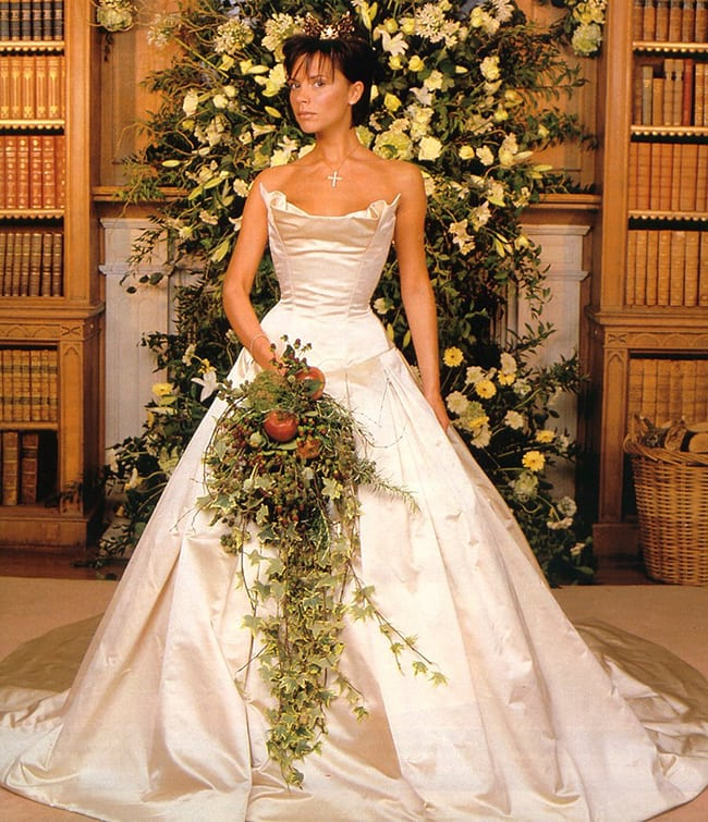 most expensive wedding dresses victoria beckham