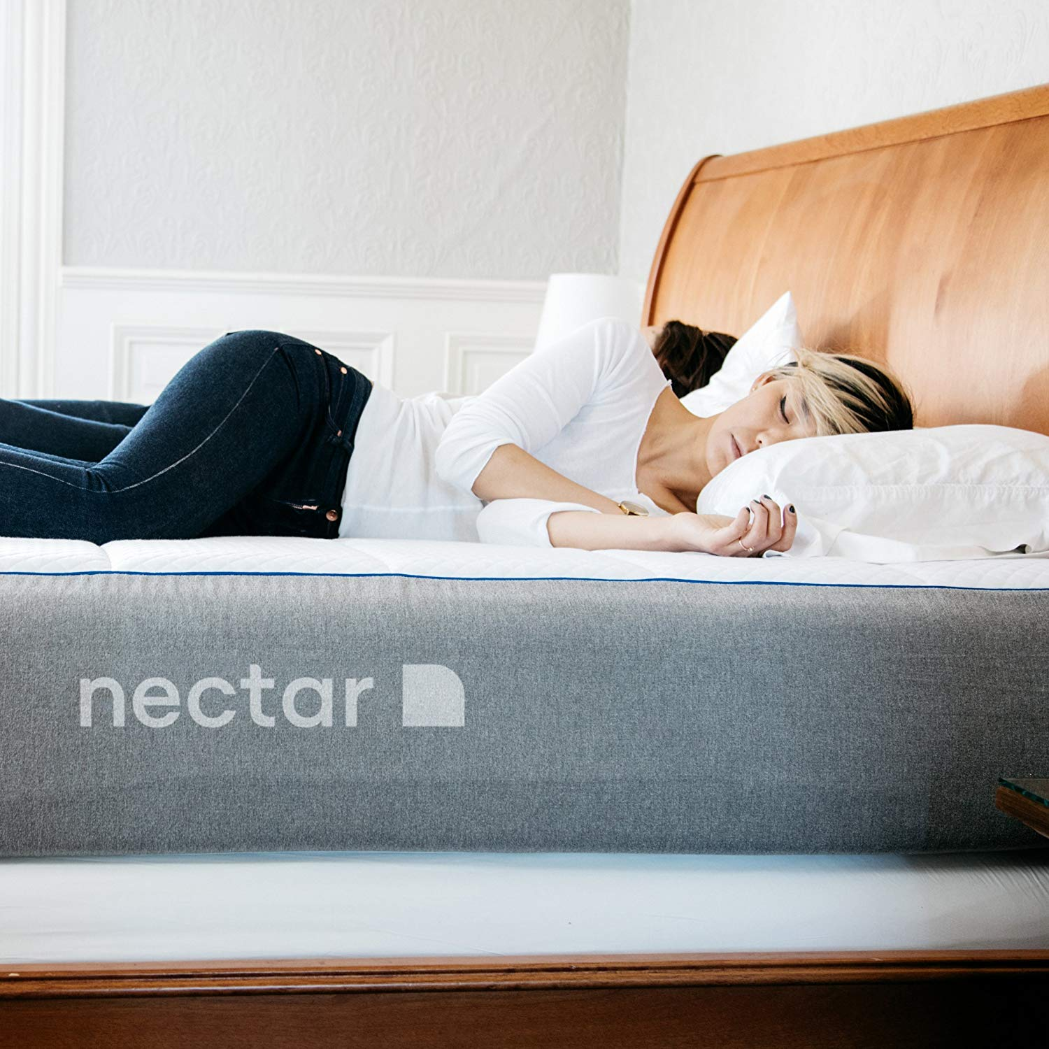 Woman sleeping on Nectar mattress